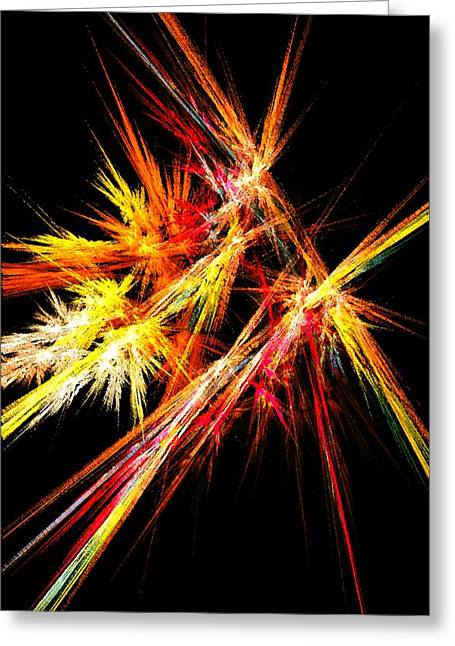 Fireworks Mixed Media Greeting Cards - Fireworks Greeting Card by Anastasiya Malakhova