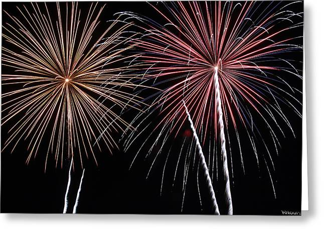 Fireworks Greeting Card by Andrew Nourse