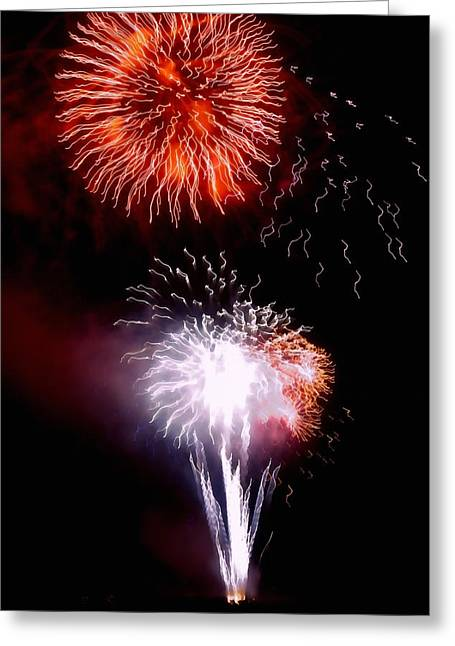 Fireworks Greeting Card by Art Block Collections