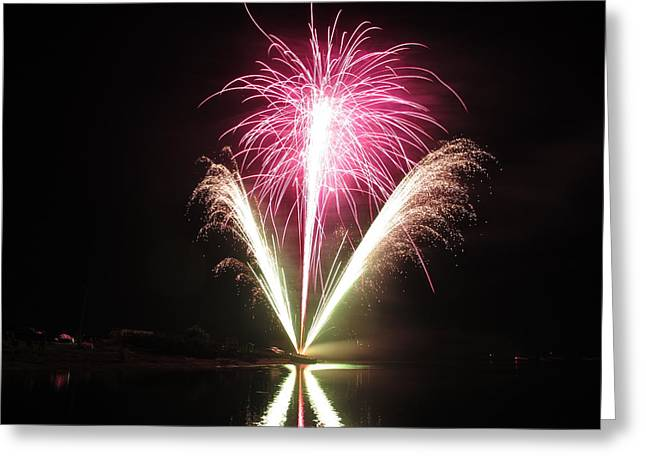American Independance Photographs Greeting Cards - Fireworks at Cooks Greeting Card by Donnie Freeman