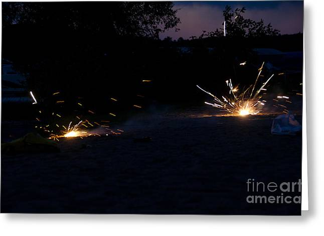 Independance Greeting Cards - Fireworks  Greeting Card by Cassie Marie Photography