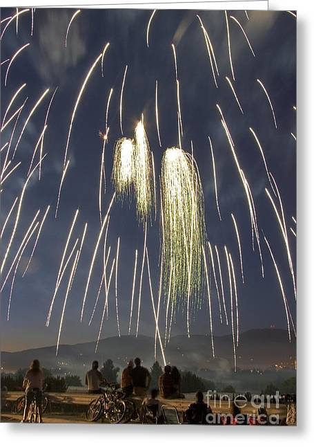 4th July Greeting Cards - Fireworks Greeting Card by David R Frazier Photolibrary Inc