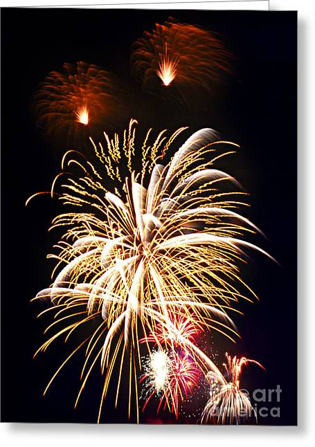 Fireworks Greeting Cards - Fireworks Greeting Card by Elena Elisseeva