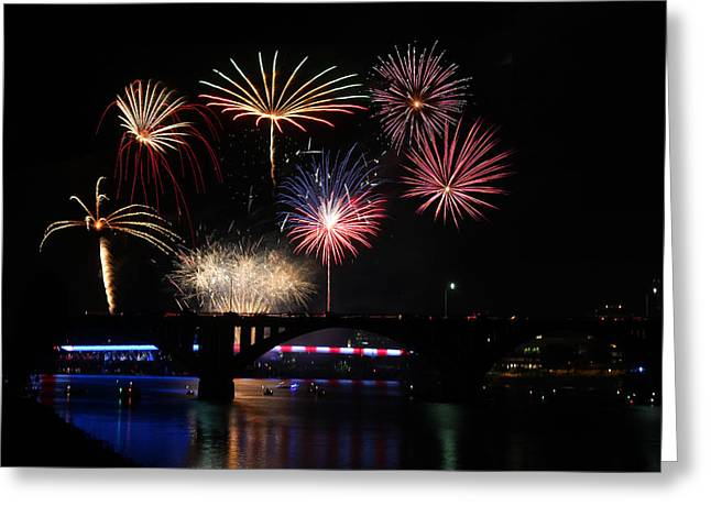 Fireworks Finale Greeting Card by Robert Camp
