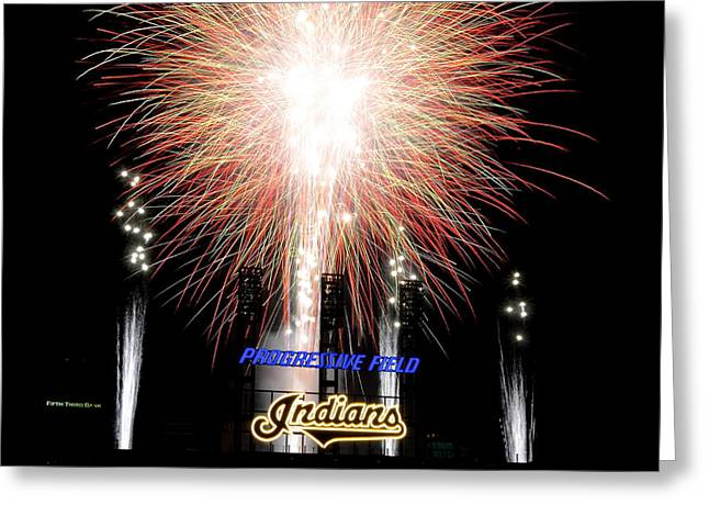 Conclusion Greeting Cards - Fireworks Finale Greeting Card by Frozen in Time Fine Art Photography