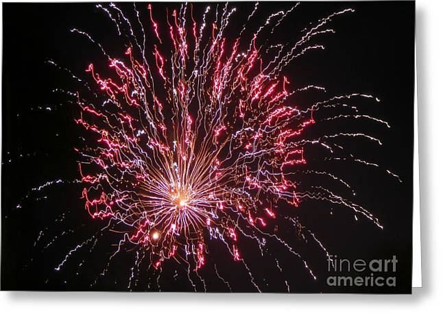 Pyrotechnics Greeting Cards - Fireworks For All Greeting Card by Terry Weaver