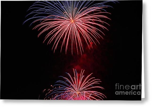 Feuerwerk Greeting Cards - fireworks I Greeting Card by Meleah Fotografie