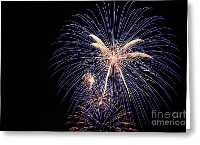 Feuerwerk Greeting Cards - fireworks II Greeting Card by Meleah Fotografie