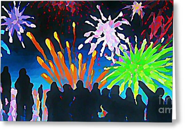 John Malone Artist Greeting Cards - Fireworks in Halifax Greeting Card by John Malone