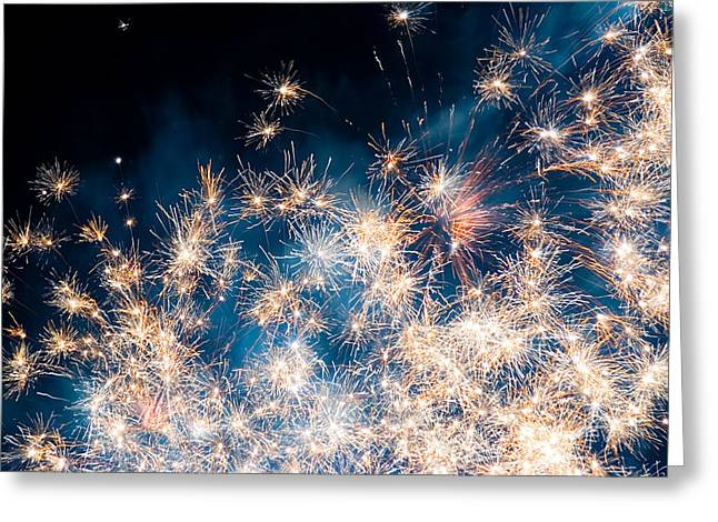 Sky Fire Greeting Cards - Fireworks in the Sky Greeting Card by Gianfranco Weiss
