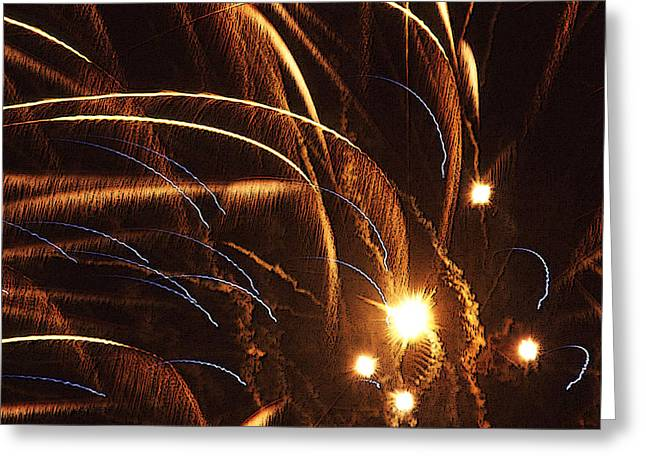Fireworks In The Wind Greeting Card by Anthony Dalton