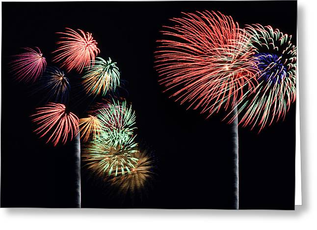 Independance Greeting Cards - Fireworks Greeting Card by Marco Parodi