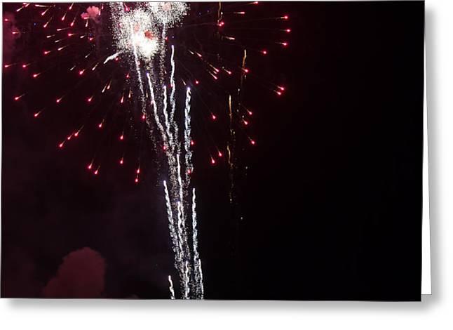 Fireworks Greeting Card by Michael Chatt