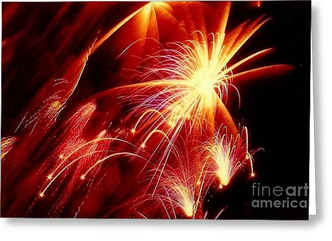 Pyrotechnics Greeting Cards - Fireworks  Greeting Card by Michael Hoard
