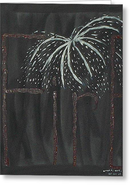 Independance Greeting Cards - Fireworks Greeting Card by Nannette Kelly