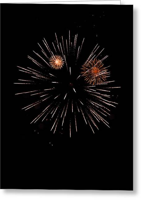 4th July Digital Greeting Cards - Fireworks night Greeting Card by Modern Art Prints