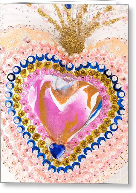 Shine Reliefs Greeting Cards - Fireworks of the butterfly-heart Greeting Card by Heidi Sieber