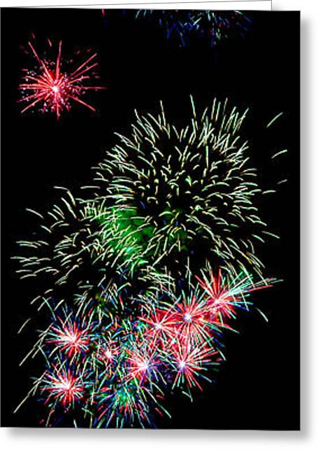 Festivities Greeting Cards - Fireworks over the Bay Greeting Card by Weston Westmoreland