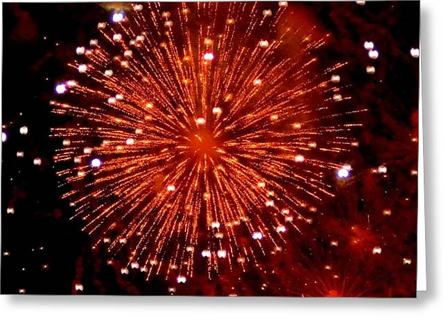 Rockets Red Glare Greeting Cards - Fireworks over the Bosphorus No. 2 Greeting Card by Harold Bonacquist