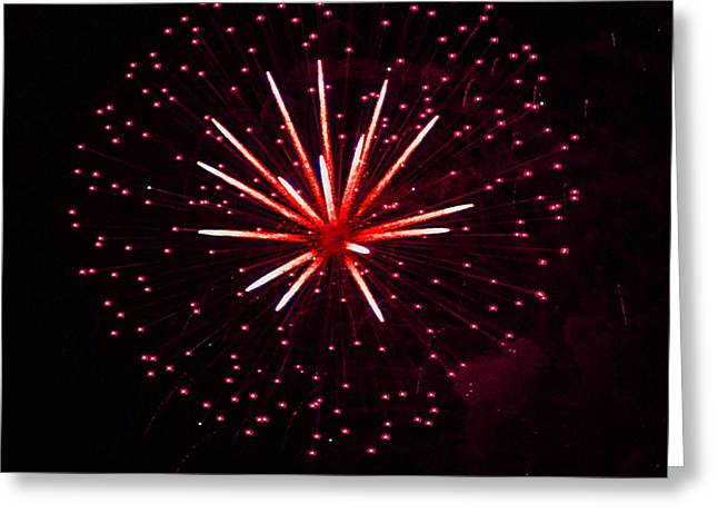 Rockets Red Glare Greeting Cards - Fireworks over the Bosphorus No. 3 Greeting Card by Harold Bonacquist