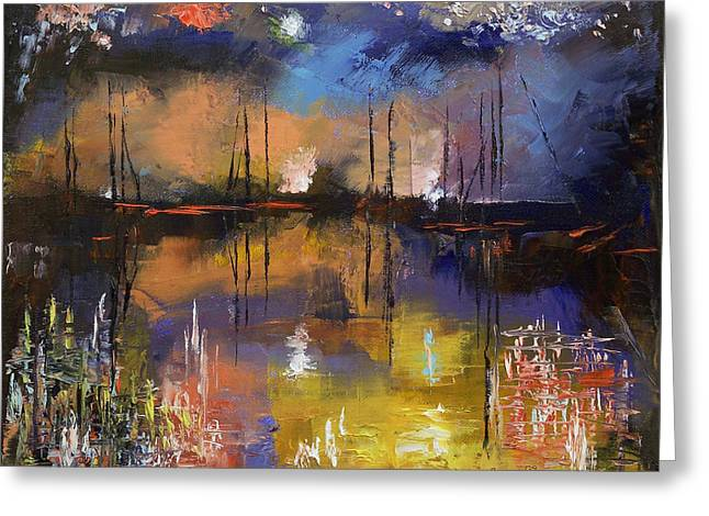 Fireworks Greeting Card by Michael Creese