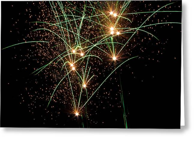 Stockton Greeting Cards - Fireworks Greeting Card by Randy Bayne