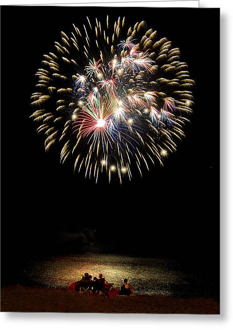 Fireworks Prints Greeting Cards - Fireworks Greeting Card by Rick Mosher