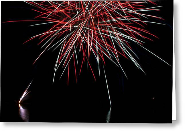 Fireworks Rockets Red Glare Greeting Card by Christina Rollo