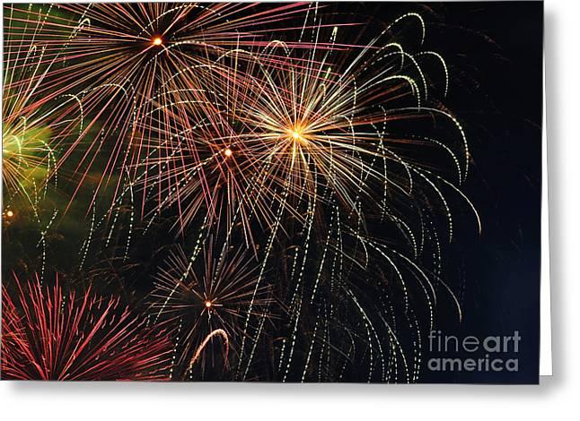 Pyrotechnics Greeting Cards - Fireworks - Royal Australian Navy Centenary 2 Greeting Card by Kaye Menner