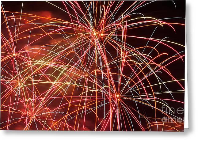 Pyrotechnics Greeting Cards - Fireworks - Royal Australian Navy Centenary 3 Greeting Card by Kaye Menner
