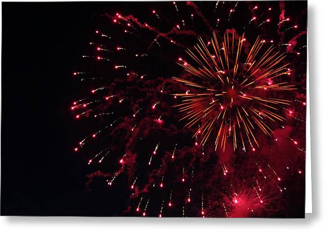 4th July Photographs Greeting Cards - Fireworks Series V Greeting Card by Suzanne Gaff