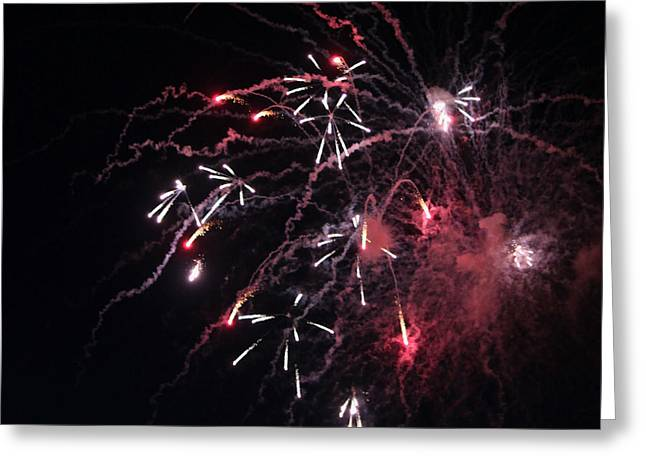 Fireworks Series XI Greeting Card by Suzanne Gaff