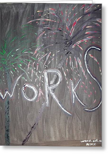 4th July Paintings Greeting Cards - Fireworks set- part 2 Greeting Card by Nannette Kelly