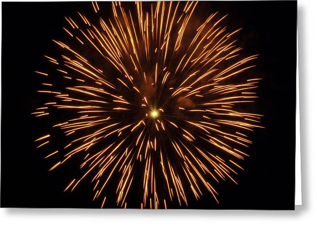 4th July Photographs Greeting Cards - Fireworks Shell Burst Greeting Card by Jay Droggitis