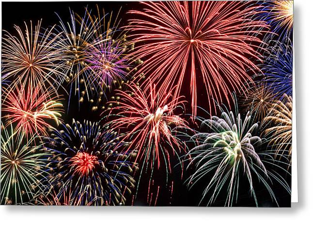 Fireworks Spectacular III Greeting Card by Ricky Barnard