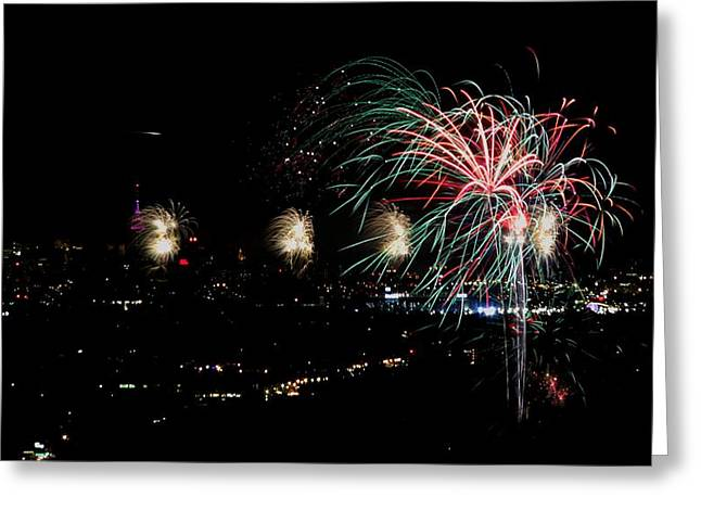 4th July Digital Art Greeting Cards - Fireworks Greeting Card by Stanlerd Rodriguez
