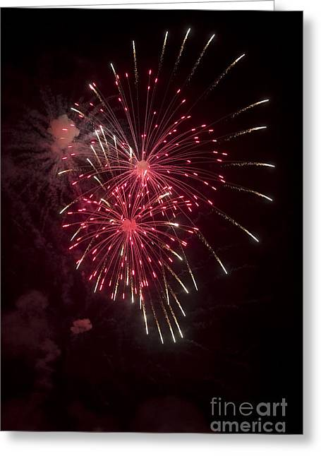 Shorewood Greeting Cards - Fireworks Greeting Card by Steven Ralser