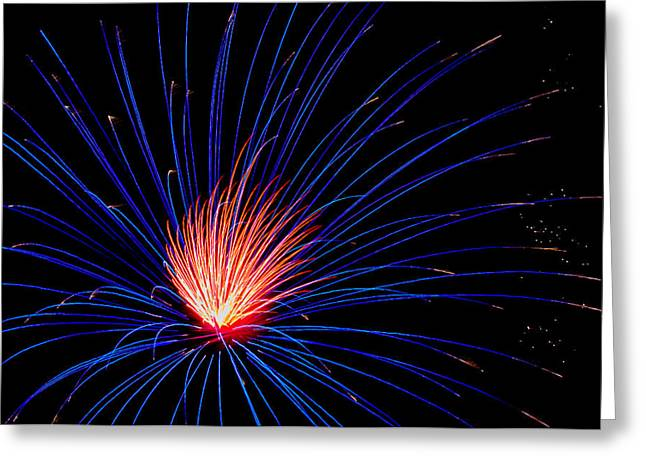 4th July Photographs Greeting Cards - Fireworks Greeting Card by Tom Wilder