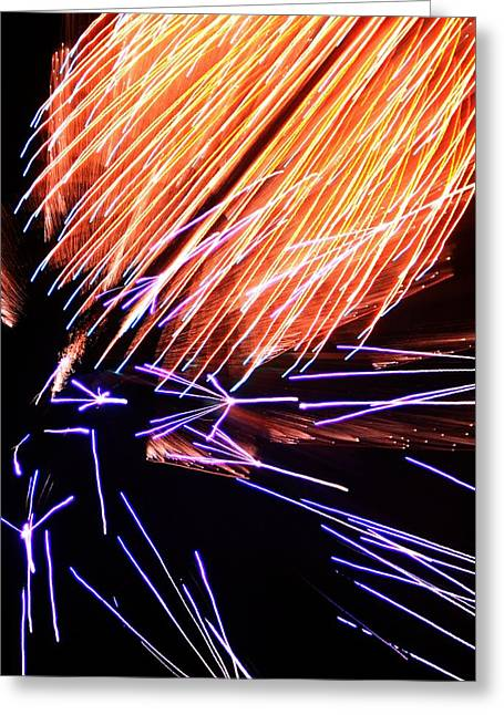 Purple Fireworks Greeting Cards - Fireworks Up Close Greeting Card by Dan Sproul