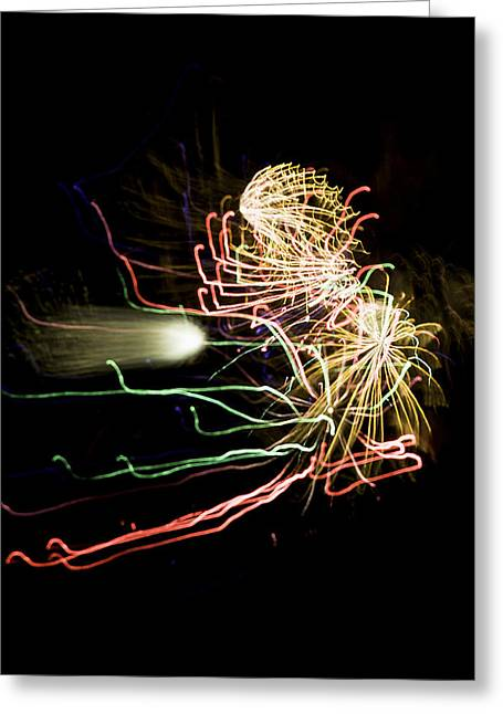 4th July Photographs Greeting Cards - Fireworks Variation # 31 Greeting Card by John Higby