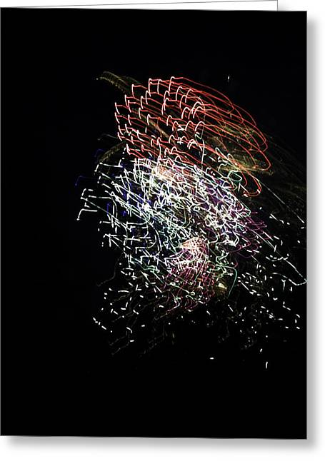4th July Photographs Greeting Cards - Fireworks Variation # 9 Greeting Card by John Higby