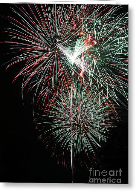 4th July Greeting Cards - Fireworks6497 Greeting Card by Gary Gingrich Galleries