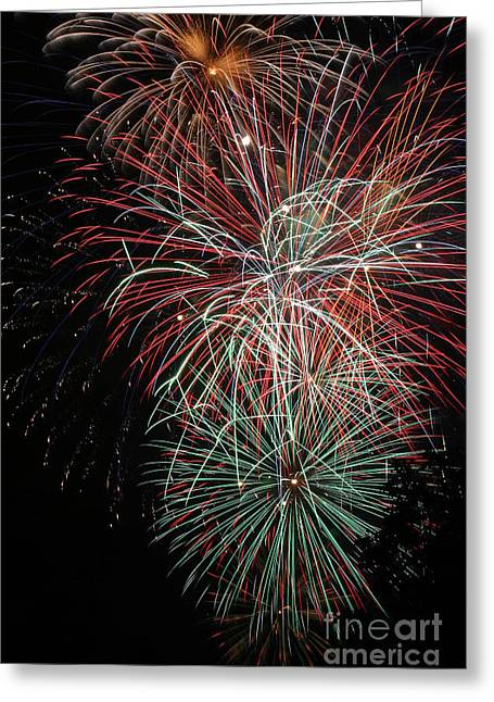4th July Greeting Cards - Fireworks6506 Greeting Card by Gary Gingrich Galleries
