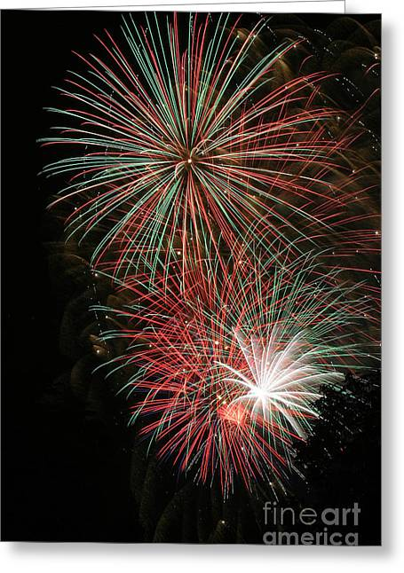 4th July Greeting Cards - Fireworks6509 Greeting Card by Gary Gingrich Galleries