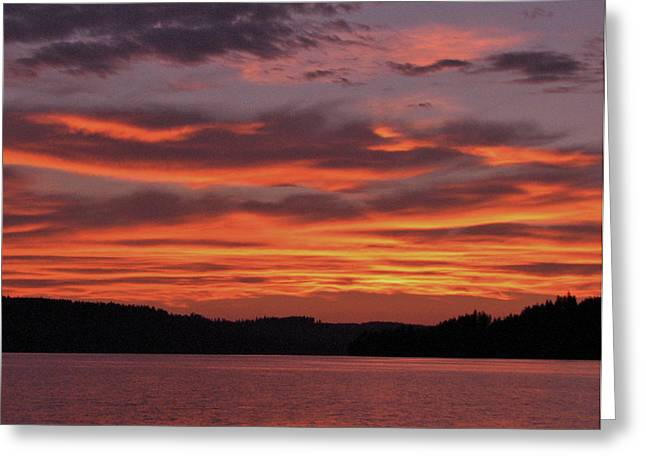 Stein Greeting Cards - Firey Waters Greeting Card by Curtis Stein