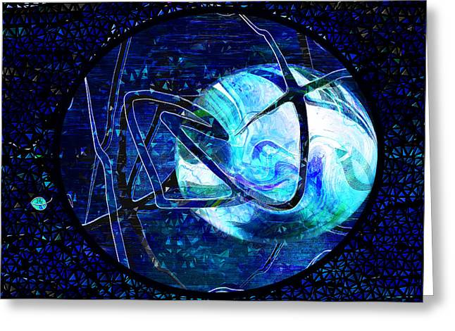 Evil And Good Digital Art Greeting Cards - FIRMAMENT CRACKED - #8 Rear Window Greeting Card by Mathilde Vhargon