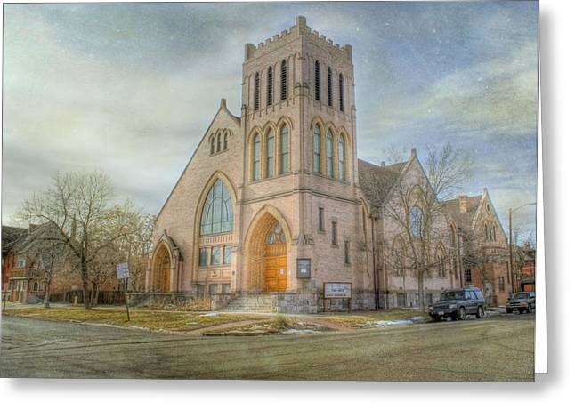 First Avenue Presbyterian Church  Greeting Card by Juli Scalzi
