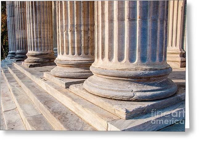 First Step Greeting Cards - First Bank of the United States - Philadelphia - Pennsylvania  Greeting Card by Gary Whitton