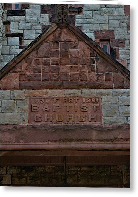Christain Cross Greeting Cards - First Baptist Church 5 Greeting Card by Richard Jenkins