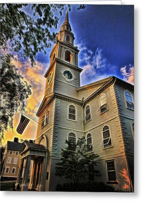 New England Ocean Greeting Cards - First Baptist Church in America - Providence Greeting Card by Stephen Stookey